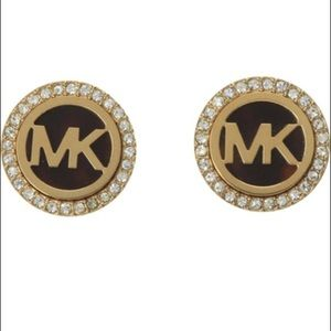 Michael Kors tortoise clip on earrings